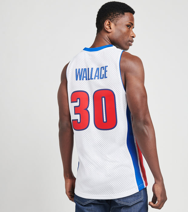 Mitchell And Ness  Rasheed Wallace 30 Pistons Jersey  White - SMJYGS18166DPI-WHIT | Jimmy Jazz