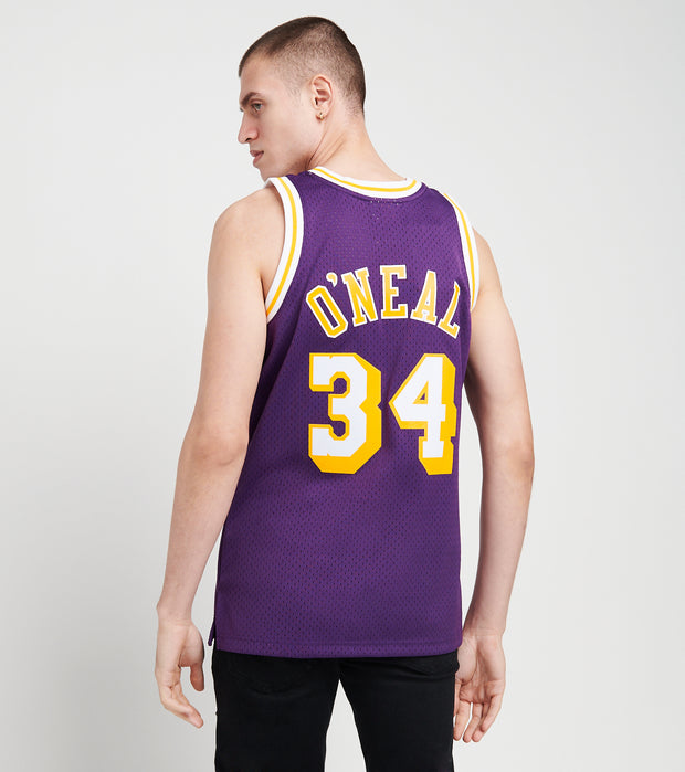 Mitchell And Ness  Shaquille O'Neal 34 Lakers Jersey  Purple - SMJYGS18178LAL-PURP | Jimmy Jazz