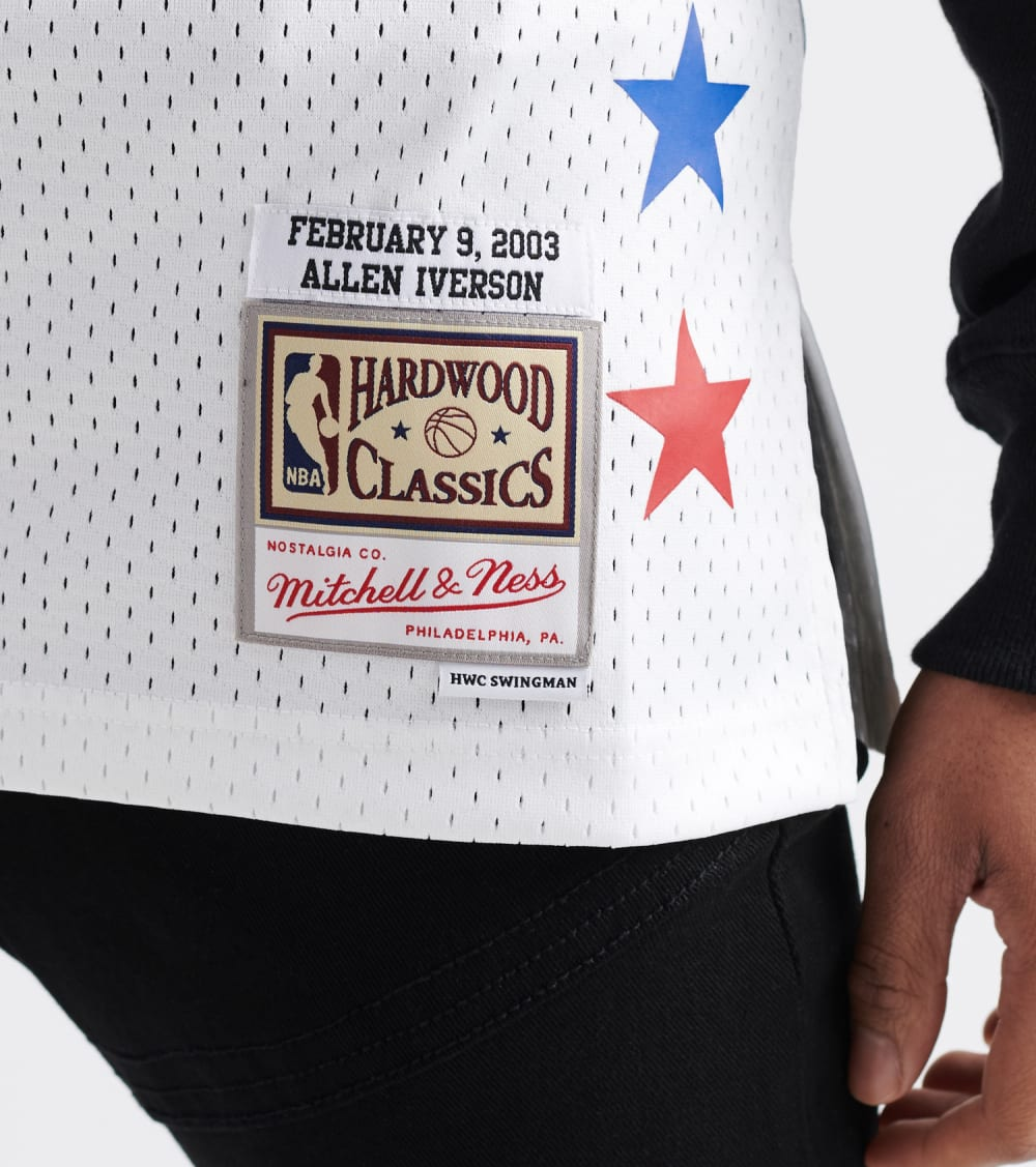 Mitchell And Ness  All-Star Game 2003 Allen Iverson Jersey  White - SMJYNG18424-WHT | Jimmy Jazz