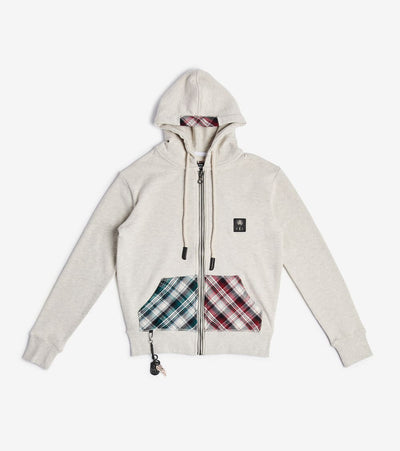 Smugglers Moon  Smuggler Plaid Full Zip Hoodie  Grey - SMKJ8006-HOA | Jimmy Jazz