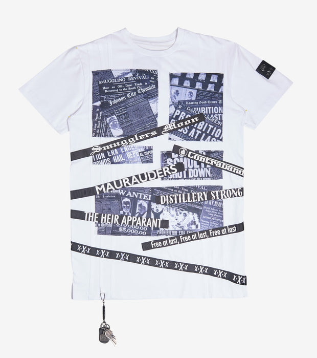 Smugglers Moon  Distillery Tee  White - SMKT010-WHT | Jimmy Jazz