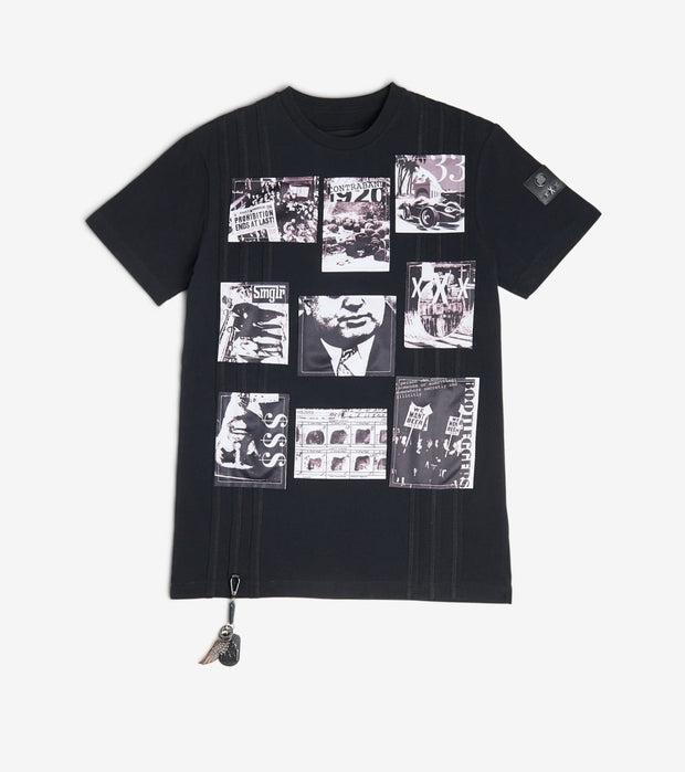 Smugglers Moon  Photo Collage Tee  Black - SMKT024-BBK | Jimmy Jazz
