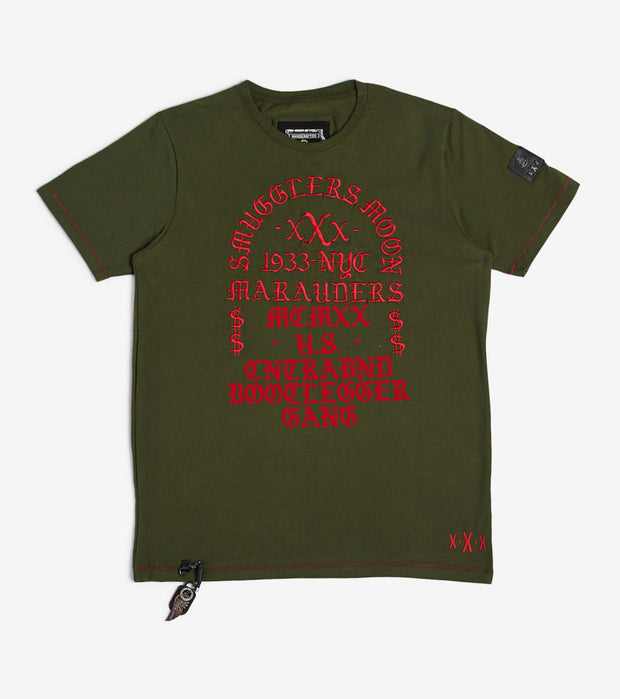 Smugglers Moon  Smugglers Contra Gang Tee  Green - SMKT1041-OLV | Jimmy Jazz