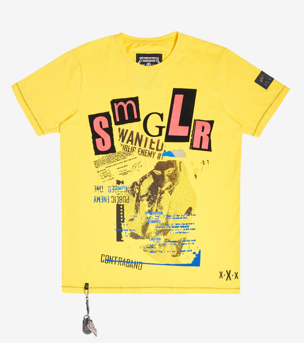 Smugglers Moon  Ransom Tee  Yellow - SMKT1043-YLW | Jimmy Jazz