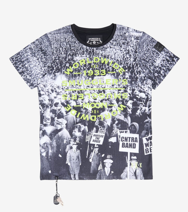 Smugglers Moon  Protest Tee  Black - SMKT1056-BLK | Jimmy Jazz