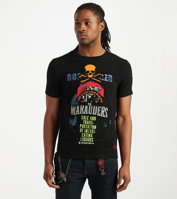 Smugglers Moon  Marauders Skull And Bones Tee  Black - SMKT1076-BLK | Jimmy Jazz