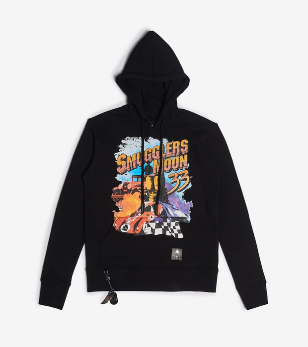 Smugglers Moon  Smugglers Print Screen Pullover Hoodie  Black - SMKT1078-BLK | Jimmy Jazz