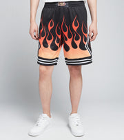 Mitchell And Ness  Chicago Bulls Flames Swingman Shorts  Black - SMSHBW19137CBU-BLCK | Jimmy Jazz