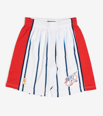 Mitchell And Ness  Swingman Rockets Shorts   White - SMSHCP19018-ROC | Jimmy Jazz