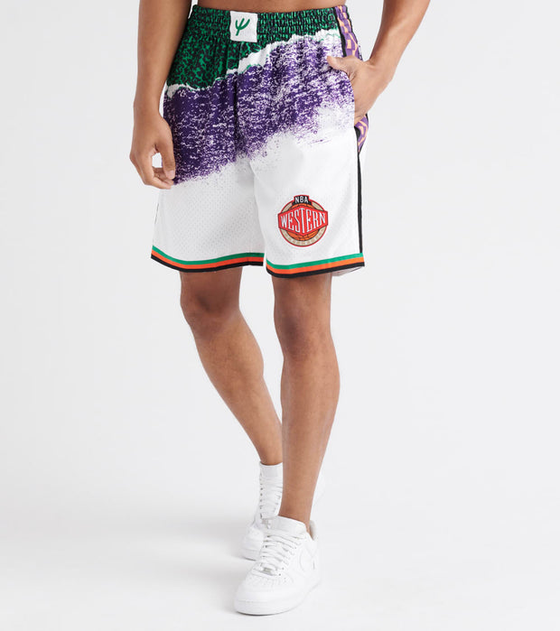 Mitchell And Ness  NBA All-Star Game 1995 Shorts  White - SMSHNG18435-WHT | Jimmy Jazz