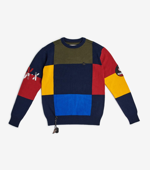 Smugglers Moon  Smuggler Colorblock Long Sleeve Sweater  Multi - SMSW002-MLT | Jimmy Jazz