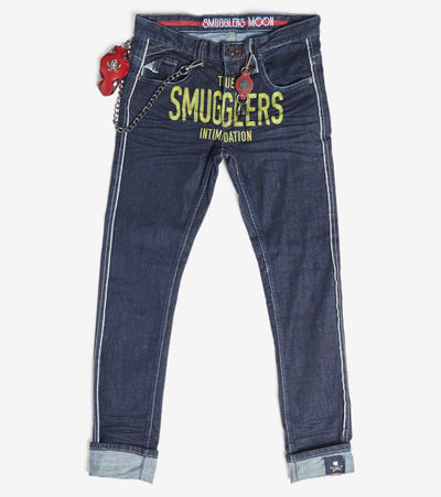 Smugglers Moon  Stretch Smugglers Jeans  Navy - SMWB036-RIN | Jimmy Jazz