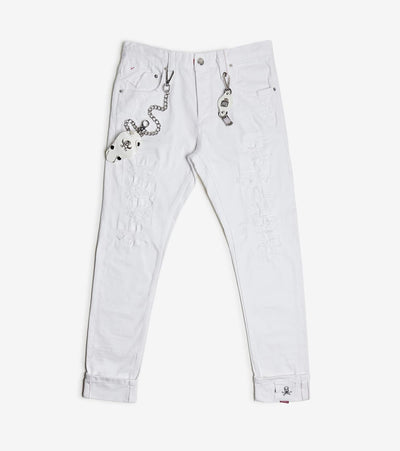 Smugglers Moon  Stretch Jeans With Cuffs  White - SMWB5067-WHT | Jimmy Jazz