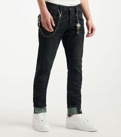 Smugglers Moon  Stretch Jeans With Cuffs  Navy - SMWB5076-MMN | Jimmy Jazz