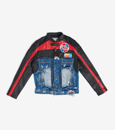 Smugglers Moon  Smuggler Denim NMX Biker Jacket  Blue - SMWJKT001-IND | Jimmy Jazz