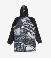 Smugglers Moon  Smuggler Long Print Jacket  Black - SMWJKT006-BBK | Jimmy Jazz