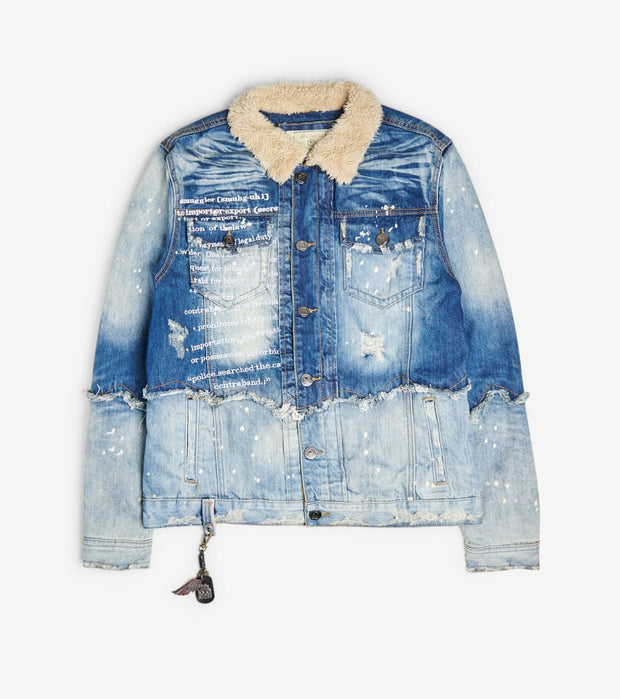 Smugglers Moon  Smugglers Sherpa Denim Jacket  Blue - SMWJKT023-IND | Jimmy Jazz