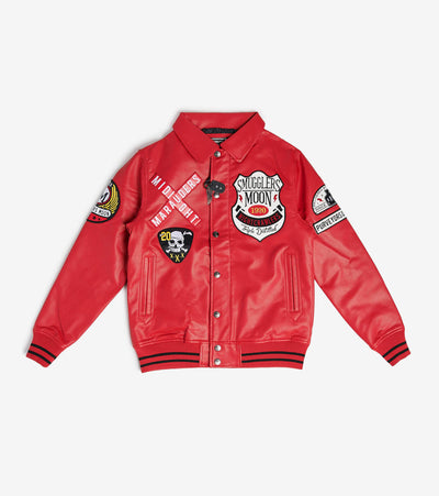 Smugglers Moon  Smugglers Marauders MX Leather Jacket  Red - SMWJKT024-RED | Jimmy Jazz