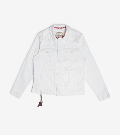 Smugglers Moon  Stretch Denim Jacket  White - SMWJKT3034-NWT | Jimmy Jazz