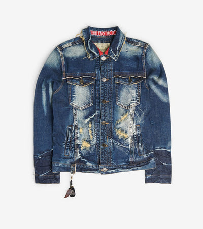 Smugglers Moon  Stretch Denim Jacket  Blue - SMWJKT3036-HIN | Jimmy Jazz