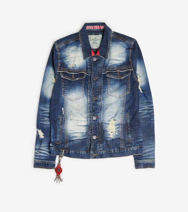 Smugglers Moon  Stretch Denim Jacket  Blue - SMWJKT3039-DWS | Jimmy Jazz