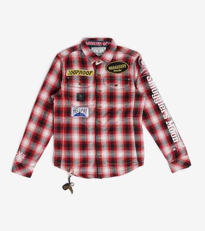 Smugglers Moon  Smuggler Plaid Long Sleeve Button Down  Red - SMWT2016-RED | Aractidf