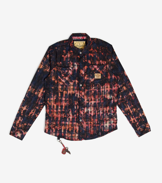 Smugglers Moon  Smuggler Multi Plaid LS Button Down  Black - SMWT2017-BLK | Jimmy Jazz