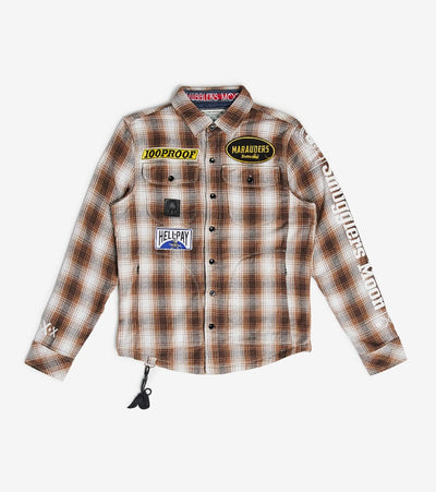 Smugglers Moon  Smugglers Plaid Button Down LongSleeve   Brown - SMWT2020-KHK | Aractidf