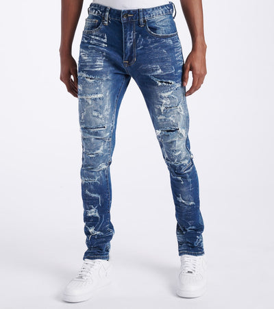 Decibel  Slim Tapered Jeans - L32  Blue - SS120126L32-BBL | Jimmy Jazz