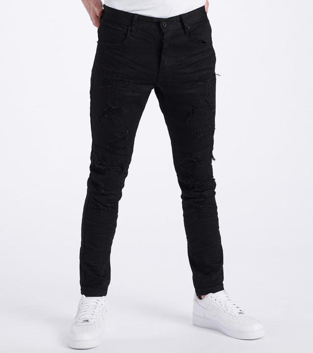Decibel  Slim Tapered Stretch Jeans - L32  Black - SS120132L32-JBK | Jimmy Jazz