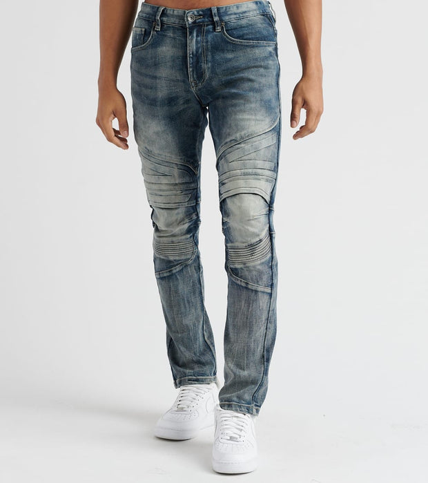 Decibel  Slim Embossed Jeans - L32  Blue - SS18037L32-CBL | Jimmy Jazz