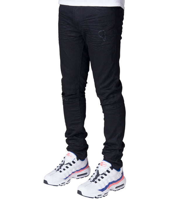 Decibel  Fashion Jeans W Rip n Repair - L32  Black - SS18140L32-JBK | Jimmy Jazz