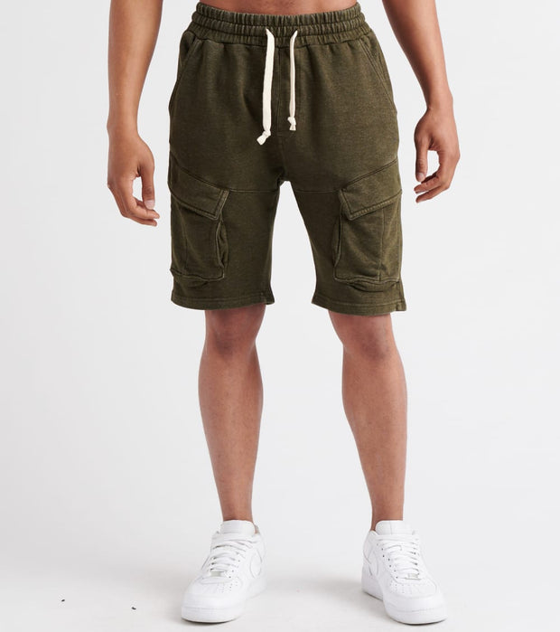 Decibel  Drawstrings Cargo Shorts  Green - SS19S50-GRN | Jimmy Jazz