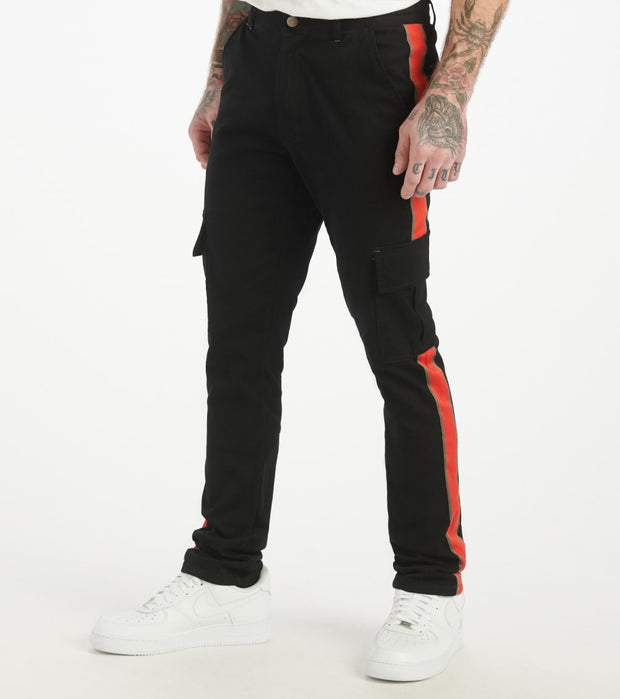 Decibel  Side Stripe Cargo Pant  Black - SS20TW01-BRD | Jimmy Jazz