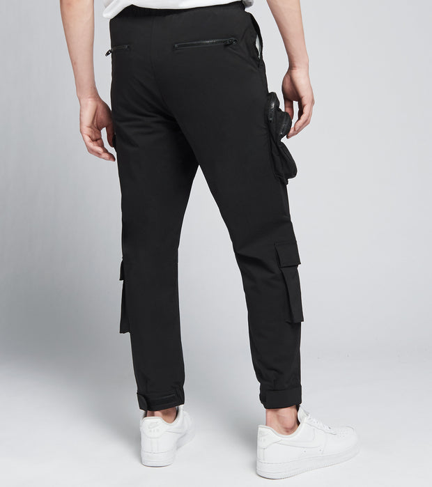 Decibel  Draw String Cargo Pants  Black - SS21B499-BLK | Jimmy Jazz