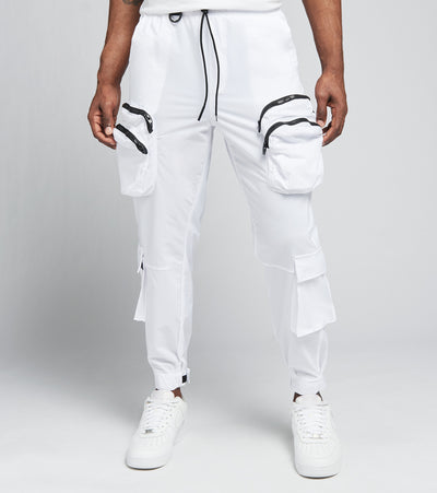 Decibel  Draw String Cargo Pants  White - SS21B499-WHT | Jimmy Jazz