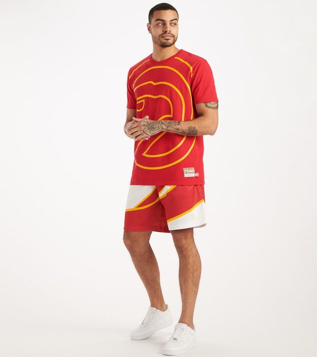 Mitchell And Ness  Big Face Hawks Tee  Red - SSTEBW19070-ATL | Jimmy Jazz