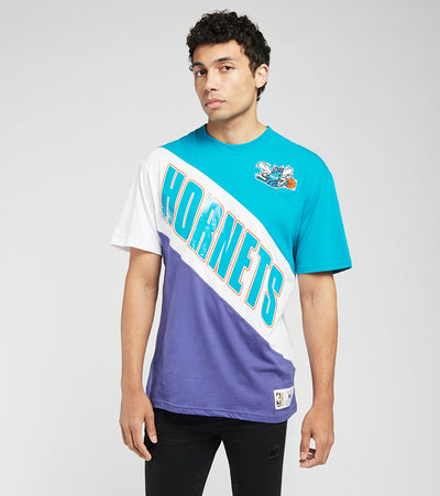 Mitchell And Ness  Charlotte Hornets Play by Play Tee  Blue - SSTEMI19038CHO-TLPR | Jimmy Jazz