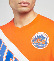 Mitchell And Ness  New York Mets Play by Play Tee  Orange - SSTEMI19038NYM-ORRY | Jimmy Jazz