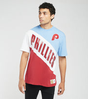 Mitchell And Ness  Philadelphia Phillies Play by Play Tee  Blue - SSTEMI19038PPH-LBRD | Jimmy Jazz