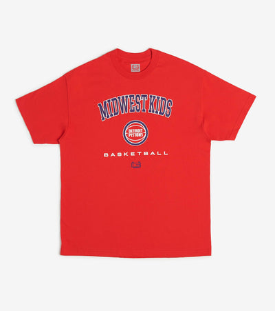 Midwest  Detroit Pistons Tee  Red - STM8916SDP-RED | Jimmy Jazz