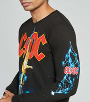 Reason  AC DC Rock Bust Long Sleeve Tee  Black - SU110-BLK | Jimmy Jazz