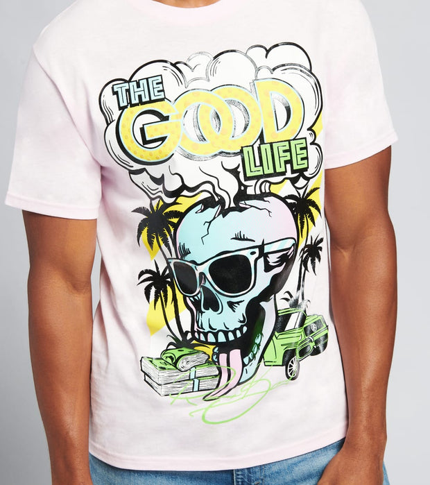Reason  The Good Life Short Sleeve Tee  Pink - T158-PNK | Jimmy Jazz