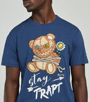 BKYS  Stay Trapt Short Sleeve Tee  Blue - T184-MDN | Jimmy Jazz