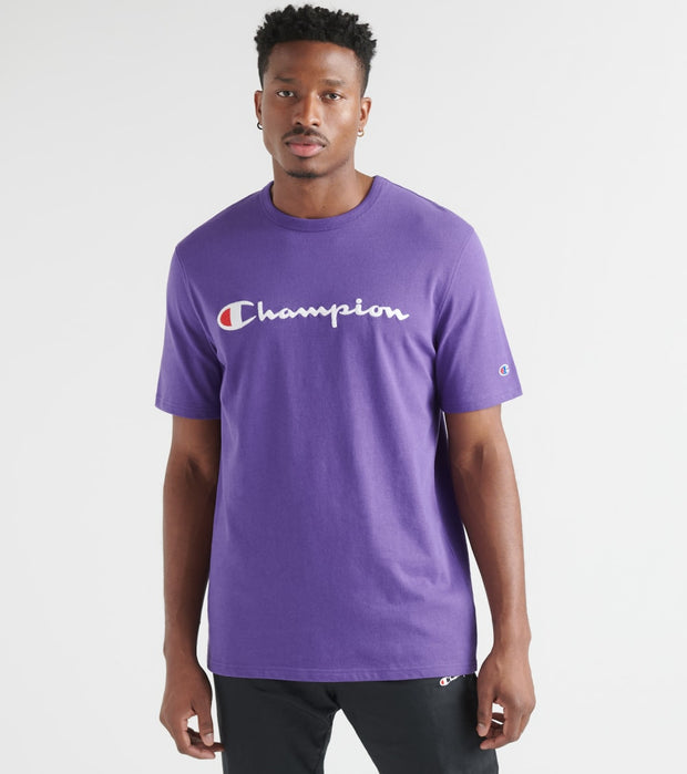 Champion  Heritage Tee Script  Purple - T1919G549465-PRC | Jimmy Jazz