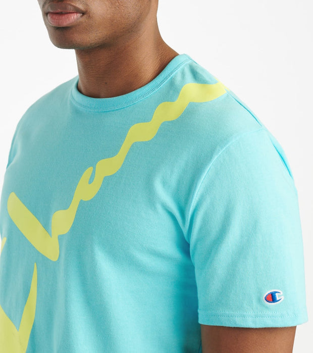 Champion  Heritage Tee  Blue - T1919G550773-QQC | Jimmy Jazz