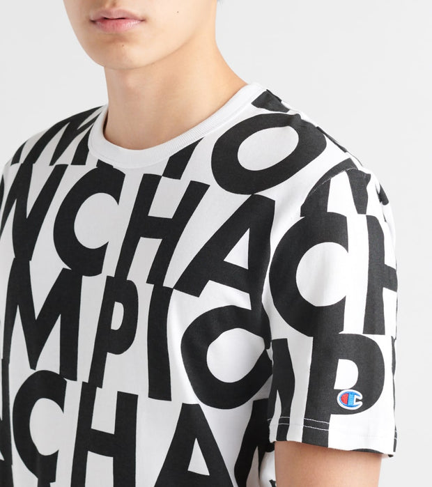 Champion  Heritage SS Tee All Over Print  White - T1919S-7Y | Jimmy Jazz