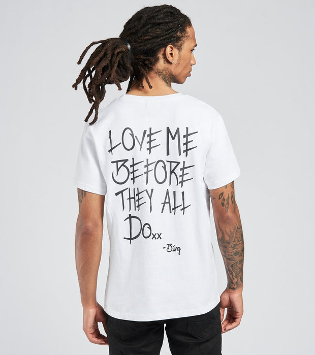 Love Me Before They All Do  Love Me Before They All Do Tee  White - T2001-WHT | Jimmy Jazz