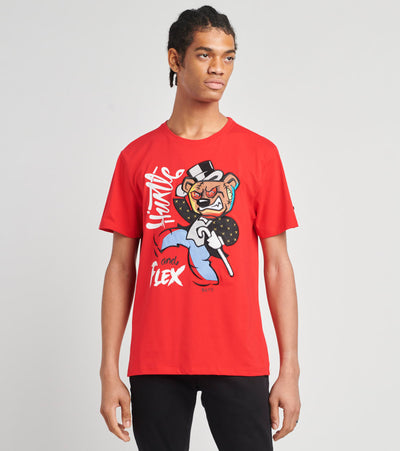 BKYS  Hustle and Flex Short Sleeve Tee  Red - T216-RED | Jimmy Jazz