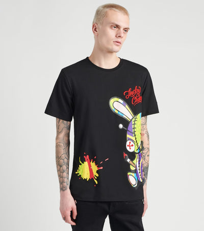 BKYS  Lucky Charm Painting Short Sleeve Tee  Black - T227-BLK | Jimmy Jazz